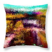 Aaw2- Evening At The Pond Throw Pillow