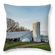 Abandoned Countryside Farm In The Afternoon Throw Pillow