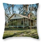 Abandoned House Old Cahawba Throw Pillow