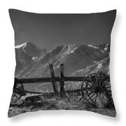 Abandoned Wagon In The High Sierra Nevada Mountains Throw Pillow