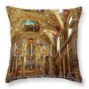 Abbey Of Montecassino Altar Throw Pillow