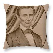 Abraham Lincoln Circa 1860  Throw Pillow