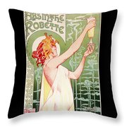 Absinthe Robette Throw Pillow