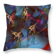 Abstract 102910 Throw Pillow
