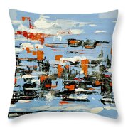 Abstract Art Project #25 Throw Pillow