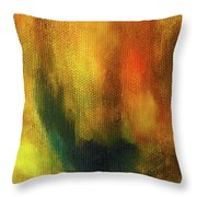 Abstract Background Structure With Oil Painting Texture In Tones Of Nature. Throw Pillow