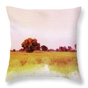 Abstract Beautiful Tree And Landscape For Background. Throw Pillow