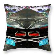 Abstract Black Car Throw Pillow