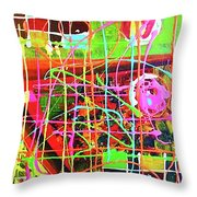 Abstract Colorful Throw Pillow
