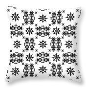 Abstract Ethnic Seamless Floral Pattern Design Throw Pillow