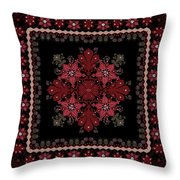 Abstract Ethnic Shawl Floral Pattern Design Throw Pillow