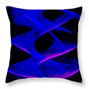 Abstract Light Trails Throw Pillow