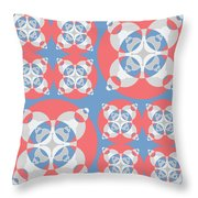 Abstract Mandala White, Pink And Blue Pattern For Home Decoration Throw Pillow