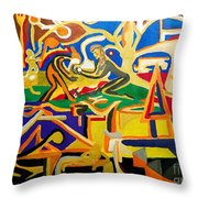 Abstract Number Nine  Throw Pillow