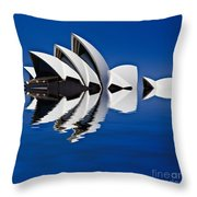 Abstract Of Sydney Opera House Throw Pillow