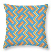 Abstract Orange, White And Red Pattern For Home Decoration Throw Pillow