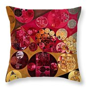 Abstract Painting - Antique Brass Throw Pillow
