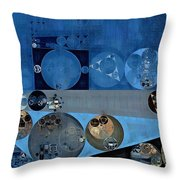 Abstract Painting - Bermuda Grey Throw Pillow