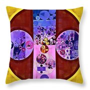 Abstract Painting - Blackberry Throw Pillow