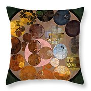Abstract Painting - Calico Throw Pillow
