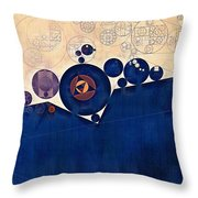 Abstract Painting - Champagne Throw Pillow