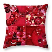 Abstract Painting - Dark Scarlet Throw Pillow