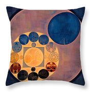 Abstract Painting - French Beige Throw Pillow