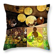 Abstract Painting - Golden Sand Throw Pillow