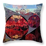 Abstract Painting - Seller Pomegranate Throw Pillow