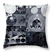 Abstract Painting - Light Gray Throw Pillow