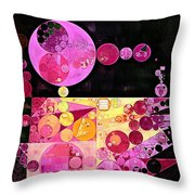 Abstract Painting - Mauvelous Throw Pillow