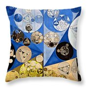 Abstract Painting - Nero Throw Pillow