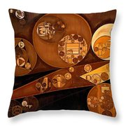 Abstract Painting - Pale Gold Throw Pillow