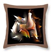Abstract Peacock Throw Pillow