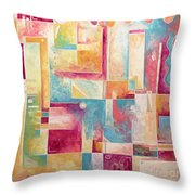 Abstract Pop Art Style Unique Pastel Painting Contemporary Art By Megan Duncanson Throw Pillow