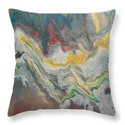 Abstract Pour Throw Pillow by Sonya Wilson