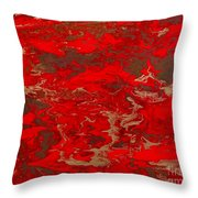 Lava Lust Abstract  Throw Pillow
