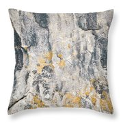 Abstract Texture Old Plaster Throw Pillow