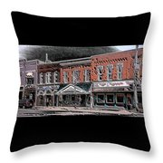 Abstract Town Throw Pillow