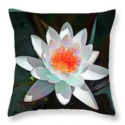 Abstract Waterlily Throw Pillow