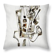 Abstraction 2844 Throw Pillow