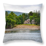 Coastal Acadia Throw Pillow