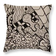 Aceo Zentangle Abstract Design Throw Pillow