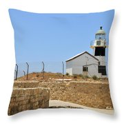 Acre, The Lighthouse  Throw Pillow