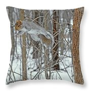 Acrobat Of The Forest Throw Pillow