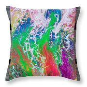 Acrylic Pouring Throw Pillow