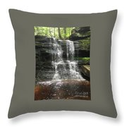Aden Hill Waterfall Throw Pillow by Kevin Croitz