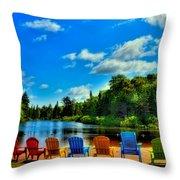 Adirondack Calm Throw Pillow