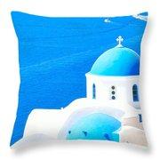 Aegean Blue Throw Pillow