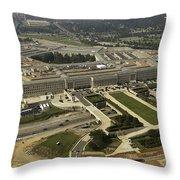 Aerial Photograph Of The Pentagon Throw Pillow